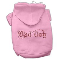 Mirage Pet Products 10-Inch Bad Dog Rhinestone Hoodies, Small, Pink