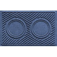 "Aqua Shield Dog Bowl Wave Pet Feeder Mat, Navy, 18"" X 27"""