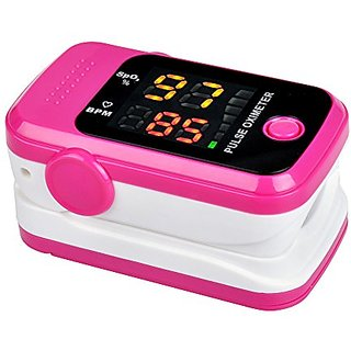 Starhealth SH-D1 Rose Color Fingertip Pulse Oximeter Oximetry Blood Oxygen Saturation Monitor, Free Neck/Wrist Cord