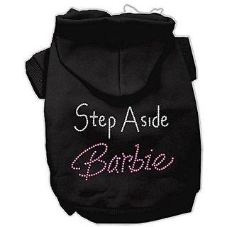 Mirage Pet Products 12-Inch Step Aside Barbie Hoodies, Medium, Black