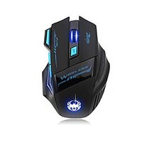 2400 DPI 7 Buttons LED Optical USB 2.4G Wireless Computer Gaming Mouse For Pc Gamer Color Black