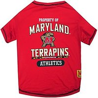 Pets First Collegiate Maryland Terrapins Dog Tee Shirt, Small