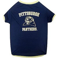 Pets First Collegiate Pittsburgh Panthers Dog Tee Shirt, Small