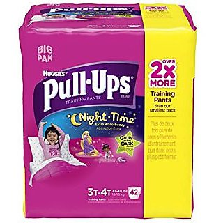 Huggies Pull-Ups Training Pants Night Time Disney Design 3T-4T - 42 CT