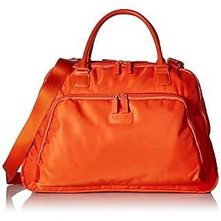 Lipault Lady Plume Large Weekend Bag With Pocket Carry On Luggage, Orange