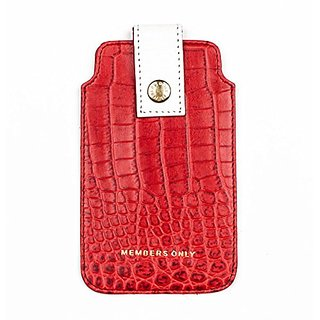 Members Only Leather iPhone SE Pouch - iPhone 5 Case - iPhone 5S Pouch Case - Red Gator