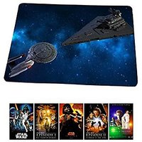 Star Trek Meets Star Wars Mousepad Star Trek Mouse Pad Star Wars Mouse Pad, MP21
