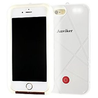 Anviker Bright LED Lighting Cell Phone Case for iPhone 6 6s with Selfie Fill Light/ Rechargeable Battery (White)