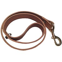 "The Strongest Leather Dog Leash For Large Dogs. 100% Cowhide Leather Dog Lead, 48"" - Extra Wide: 1.25"". Massive Solid Br"
