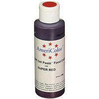 Americolor 133ml Liquid Gel Food Color, 4.5-Ounce, Super Red