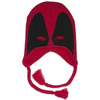 BIOWORLD Marvel Deadpool Mask Knit Laplander Beanie