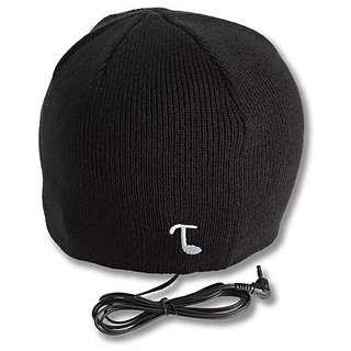 Tooks CLASSIC Headphone Beanie With Built-in Removable Headphones - COLOR: BLACK
