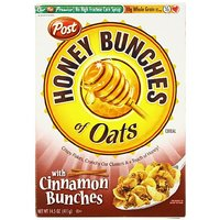 Post Honey Bunches Of Oats With Cinnamon Clusters Cereal 14.5 Oz