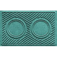 "Aqua Shield Dog Bowl Wave Pet Feeder Mat, Aquamarine, 18"" X 27"""