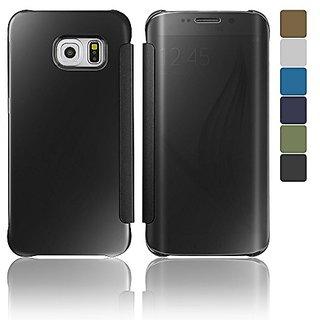 OSAN Cell Phone Flip Cover for Samsung Galaxy S6 Edge - Black