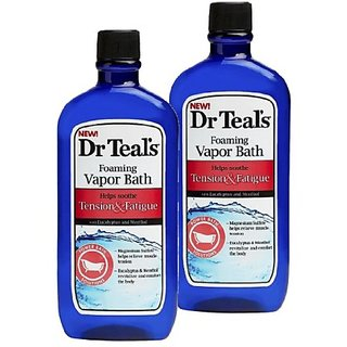Dr. Teals Foaming Vapor Bath For Stress & Fatigue (Tension & Fatigue, 2 Bottles)