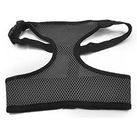 Pet Cuisine Dog Walking Harness Soft Mesh Cat Puppy Chest Vest Harnesses No-Pull Tug Comfort Control Black S
