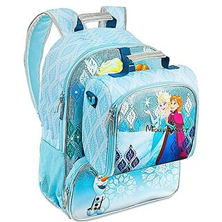 Disney Store Frozen Anna and Elsa LIGHT UP School Backpack bag bookbag & Lunch Box Tote