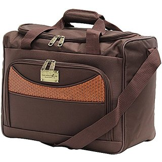 Caribbean Joe 16 Inch Weekend Gadget Bag, Chocolate Brown, One Size