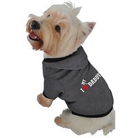 Ruff Ruff And Meow Dog Hoodie, I Love My Daddy, Black, Large