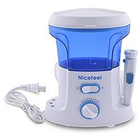 NICEFEEL Oral Irrigator, Power Floss Dental Water Jet With 7 Nozzles And 10 Pressure Setting Water Jet For Quick And Eas
