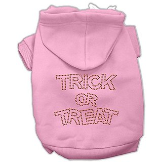 Mirage Pet Products 20-Inch Trick or Treat Rhinestone Hoodies, 3X-Large, Pink
