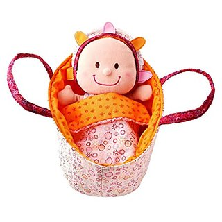 Lilliputiens Baby Eline Soft Doll in Basket with Blanket and Pajamas