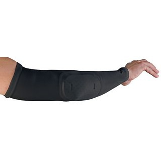 Stromgren Athletic Compression Arm Sleeve with Elbow Pad (Black, X-Large)