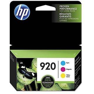 HP 920 Cyan, Magenta & Yellow Original Ink Cartridges, 3 pack (N9H55FN)