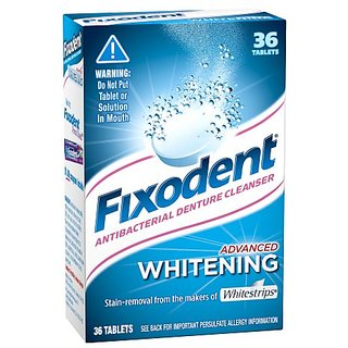 Fixodent Advanced Whitening Denture Cleanser, 36 Count