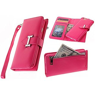 iPhone 6S Detachable Case ,iPhone 6 Wallet Case Hynice zipper Wallet Purse with Card holder Strap Folio Flip PU Leather
