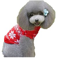 Pet Dog Ugly Christmas Sweater Red Holiday Winter Puppy Knitwear (M)