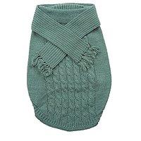 Fashion Pet Outdoor Dog Scarf Sweater, Medium, Green