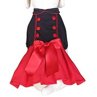 UP-Collection The Red And Black Dog Dress, Small