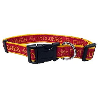 Pets First Iowa State Cyclone Team Sports Dog Collar Medium