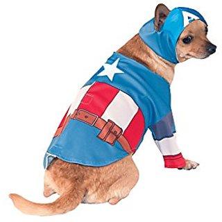 Rubies Costume Company Marvel Classic/Marvel Universe Captain America Pet Costume, Small