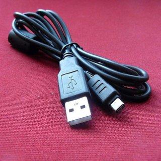 Olympus D-425 Digital Camera Compatible USB 2.0 Cable Cord - CB-USB5 & CB-USB6 Model - 4.5 feet Black - Bargains Depot