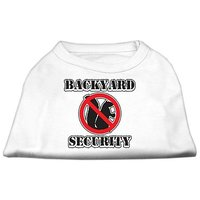Mirage Pet Products 18-Inch Backyard Security Screen Print Shirts, XX-Large, White