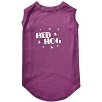 Mirage Pet Products 18-Inch Bed Hog Screen Printed Shirt, XX-Large, Purple