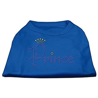 Mirage Pet Products Prince Rhinestone Pet Shirt, 3X-Large, Blue