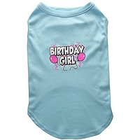 Mirage Pet Products 18-Inch Birthday Girl Screen Print Shirts, XX-Large, Aqua