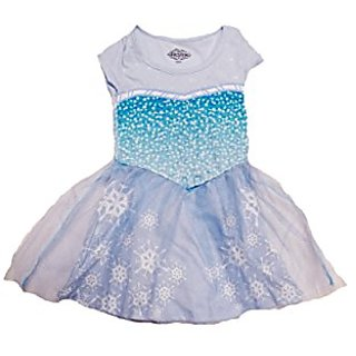 Big Girls Frozen I Am Elsa Dress Size 8