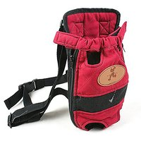 OLizee Portable Legs Out Pet Front Carrier Pet Travel Carrier Cat Dog Backpack Pet Carrier Bag, Size M