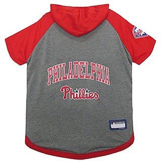 Pets First MLB Philadelphia Phillies Pet Hoodie Tee Shirt, Medium