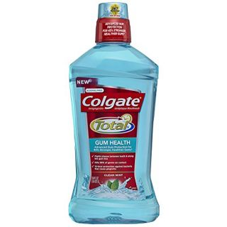 Colgate Total Gum Health Mouthwash, Clean Mint, 33.8 Ounce (Pack of 6)
