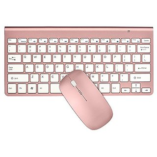 Keyboard & Mouse Combos, URCO Ergonomic Wireless 2.4G Ultra Slim Keyboard and Portable Mouse for Gaming and Working (Ros