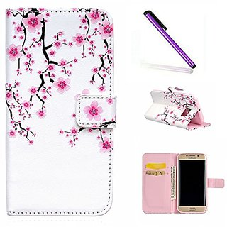 Samsung S6 Edge Wallet Case EMAXELER 3D Creative Relief Fantastic Romantic Colorful Cute Commuter Magnetic Closure PU Le