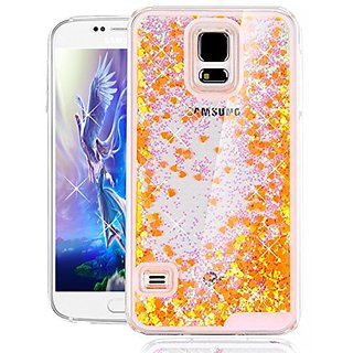 Galaxy S5 Cover Samsung Galaxy S5 Cover for Girls EMAXELER 3D Creative Design Angel Girl Flowing Liquid Floating Heart B