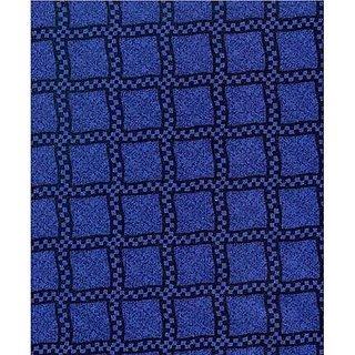 SheetWorld Fitted Pack N Play (Graco Square Playard) Sheet - Navy & Royal Wavy Check - Made In USA