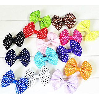 My Little Star Pet - Handmade Small Dot Design Bow for Small Cats/dogs , Small Bow for Small Size Cat/dogs (10 Piece Sma